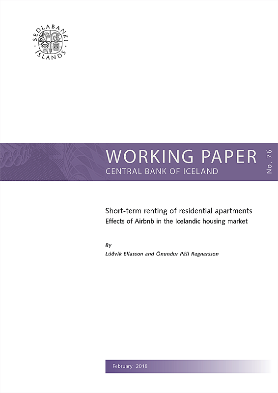 Cover of Working Paper No. 76