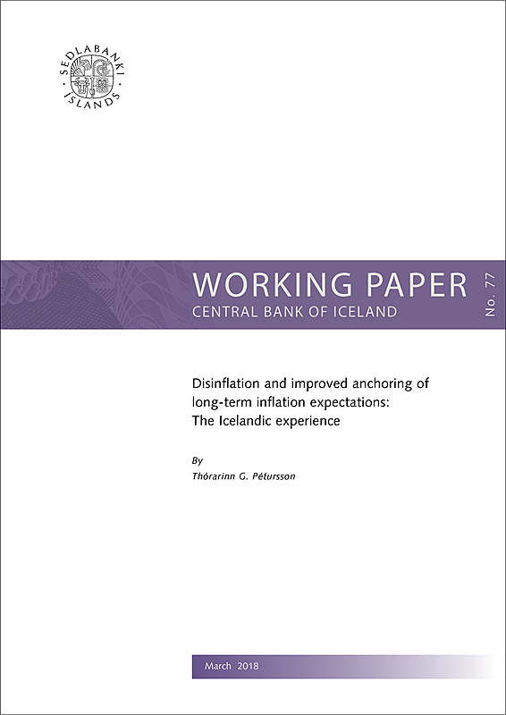 Cover of Working Paper No. 77
