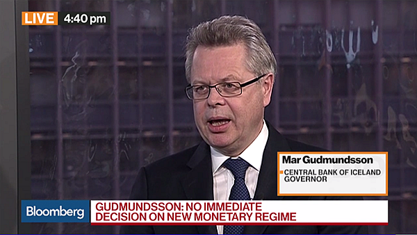 Governor Már Gudmundsson interviewed by Bloomberg