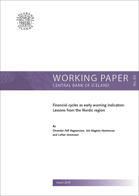 Working Paper no. 80 - Cover