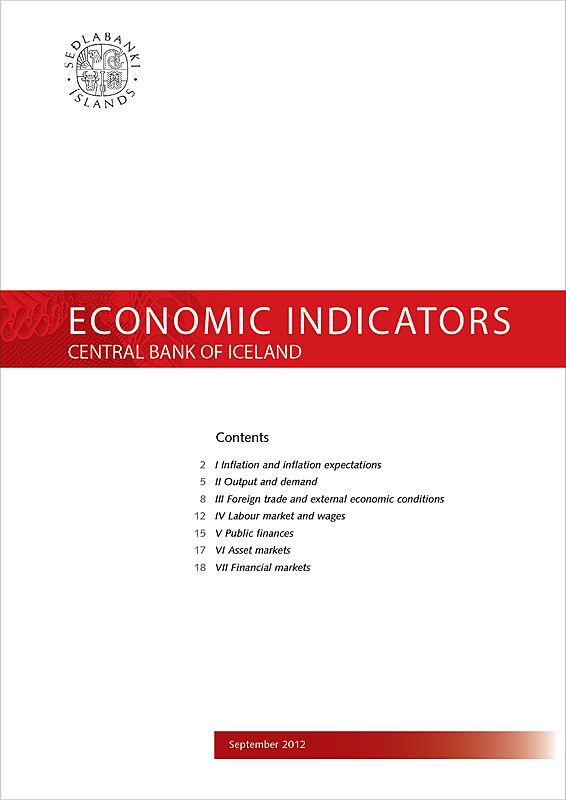Cover of Economic Indicators September 2012