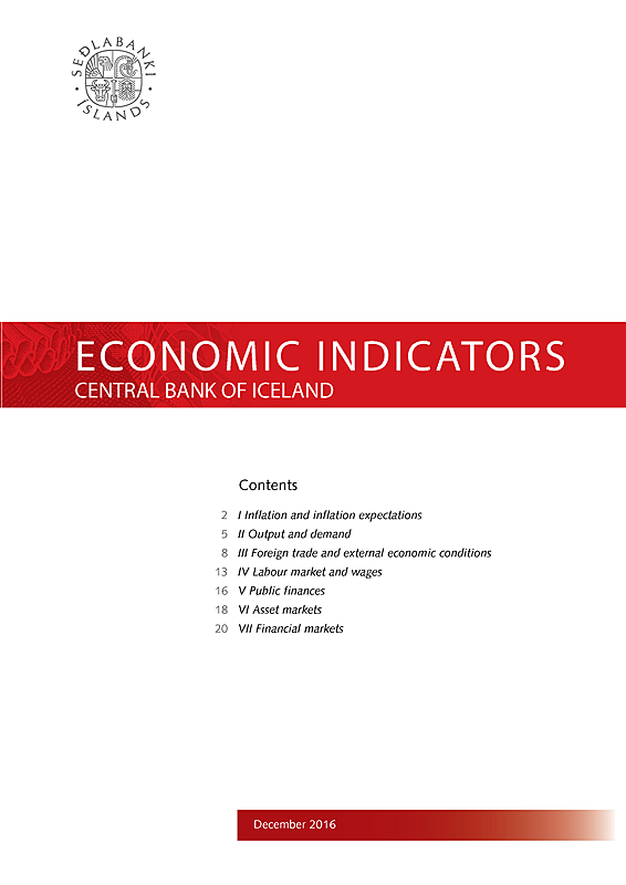 Cover of Economic Indicators December 2016
