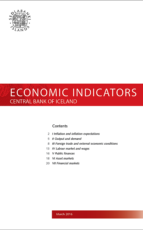 Economic Indicators 31 March 2016