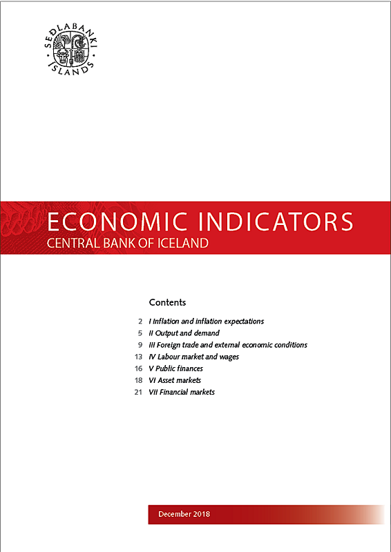 Cover of Economic Indicators December 2018