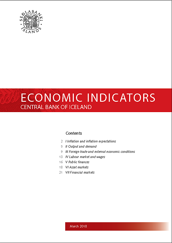 Cover of Economic Indicators March 2018