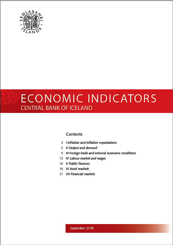 Cover of Economic Indicators September 2018