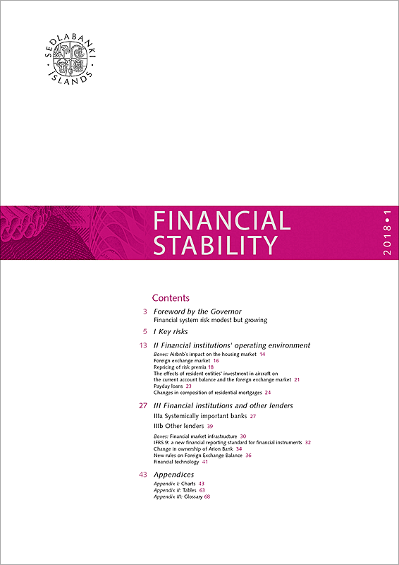Cover of Financial Stability 2018/1