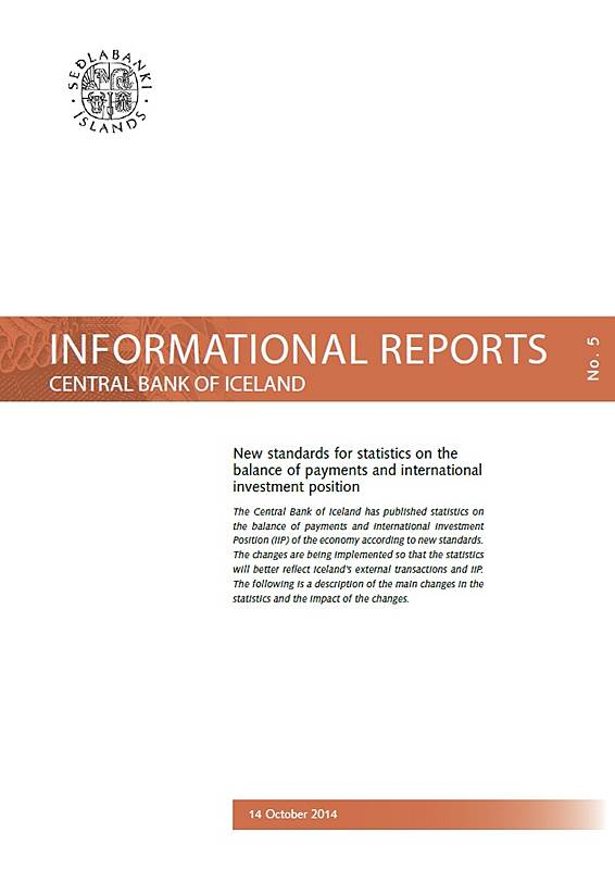 Cover of Informational Report no. 5