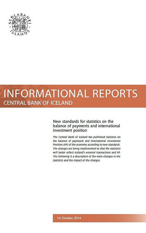Informational Report no. 5 on BoP standards