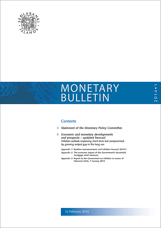 Cover of Monetary Bulletin 2014/1