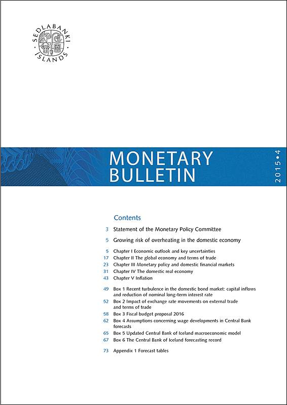 Cover of Monetary Bulletin 2015/4