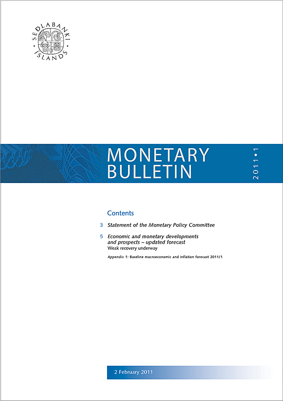 Cover of Monetary Bulletin 2011/1