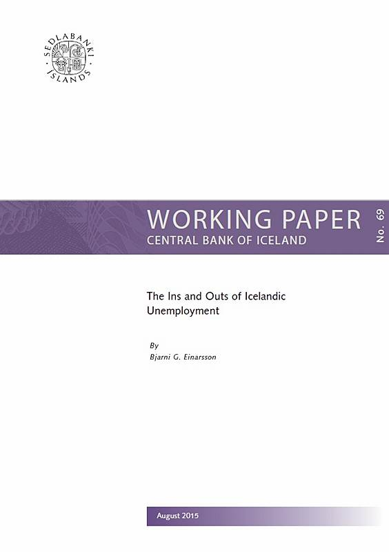 Cover for Working Paper No. 69