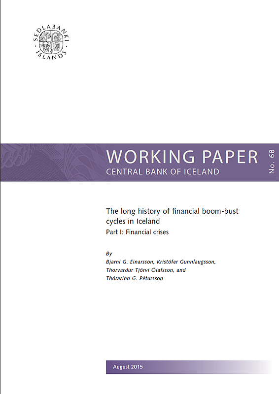 Cover for Working Paper no. 68